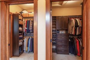 His and Her Walk-in Closets