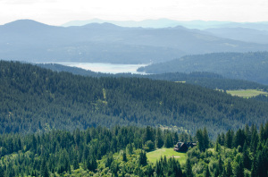Mountain Top Aerial View / Lake CDA