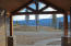 A view of Hayden Lake from the covered front entry...