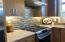 Kitchen backsplash, gas stove