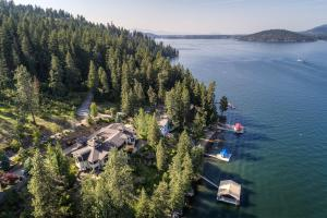 Legend has it, five wrecked steamships were sunken off Stevens Point in the 1800's. This Double gated enclave of multi-million dollar homes is one of the most special in all of North Idaho.