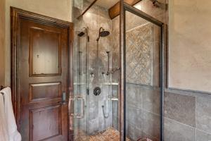 stone shower with granite inlay - luxury features throughout