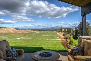Views over the golf range