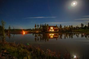 Night fall on the pond