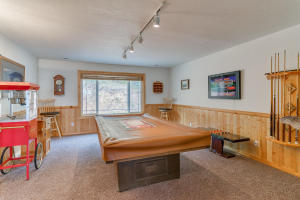 Pool table is included.