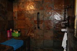 Upstairs steam shower