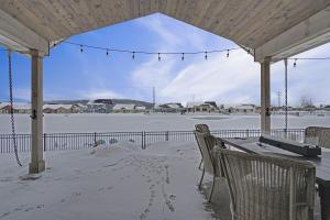 winter private backyard beach