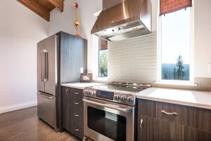 Electric stove/glass back splash