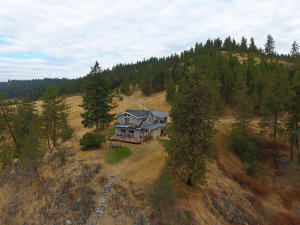 Ranch House back exterior drone