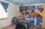 custom painted wall 2nd upstairs bedroom