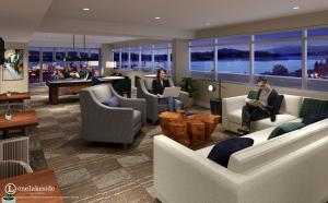One Lakeside Club Room Rendering
