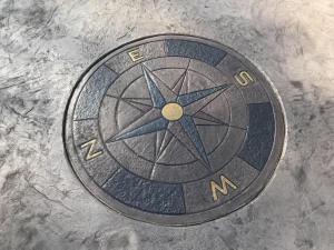 Color Stamped Concrete Compass