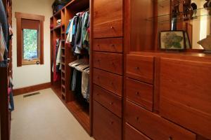 Custom cherry closets
