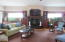 Granite gas Fireplace Built-ins Views of Rathdrum Mt.