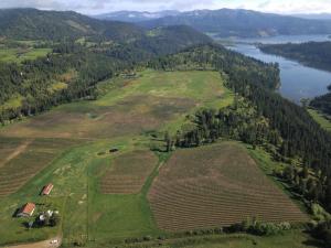 Farm & Black Lake