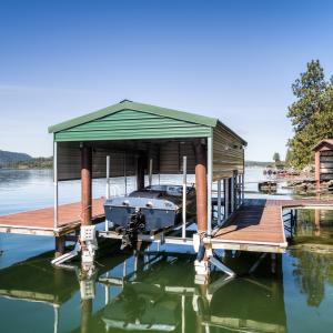 Boat lift and private dock