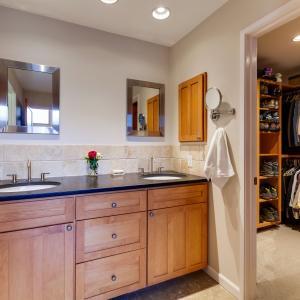 Master dual sink vanities