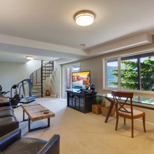The BONUS ROOM below Living Room