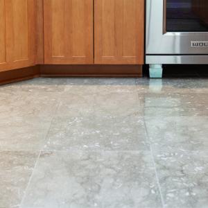 Fossil tile flooring