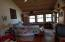 Upstairs bedroom/great room with gas fire place and 3/4 bath.