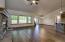 Laminate wood floors throughout main living areas