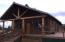Well maintained log home with deck.