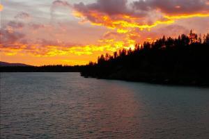 Hayden Lake sunset
