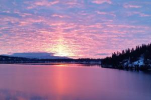Hayden Lake Sunsets in winter