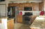 Kitchen with Granite counters and sink too. Pantry