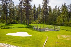 Golf practice and garden