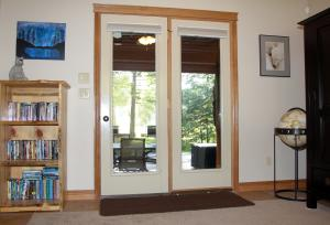 French Doors From Office to Patio