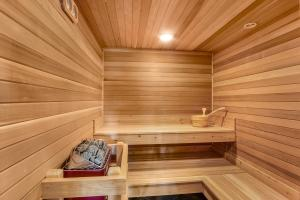 Soothing sauna room