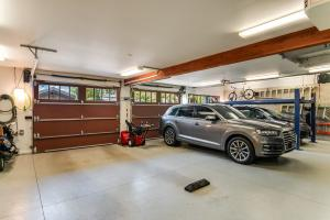 3 car attached garage with lift