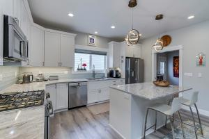 young kitchen and island