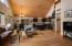Spacious open floor design. Beautiful new Hickory engineered wood floors.