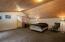 Vaulted wood ceilings in this spacious room.