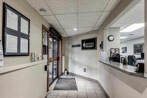Lower level reception area