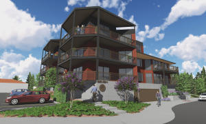 727 Front Avenue - Eight Units (Architect Rendering) Ground Level Garage Entry