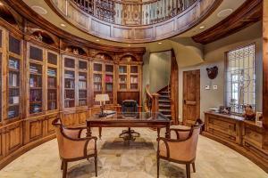 Study opens to upper mezzanine
