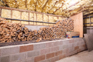 wood storage room