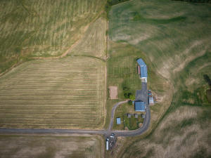 --60-Aerial showig house and outbuilding
