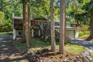 Exterior front wooded view