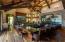 Massive sunken bar and adjacent wine cellar. Built for entertaining.