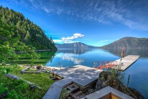 2100sf dock, private beach in your own bay on Lake Pend Oreille. A perfect place to spend a sunny afternoon!