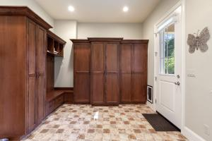 Built-in cabinets, sitting area, lots of storage space