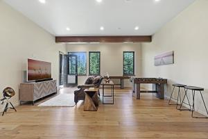 Set this space up as a game room, movie room or simply another place to relax at your retreat.