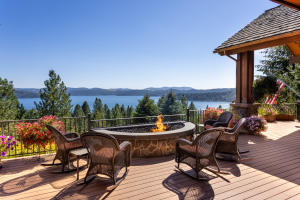 Built-In Firepit with 180 degree views