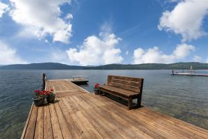 Dock with attached bench!