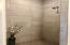 Full size walk-in tile shower