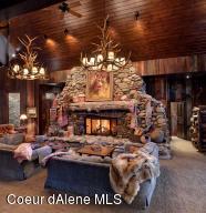 Massive stone fireplace